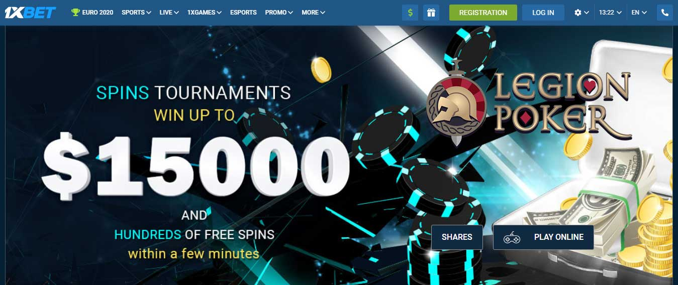 1xbet Review - Poker