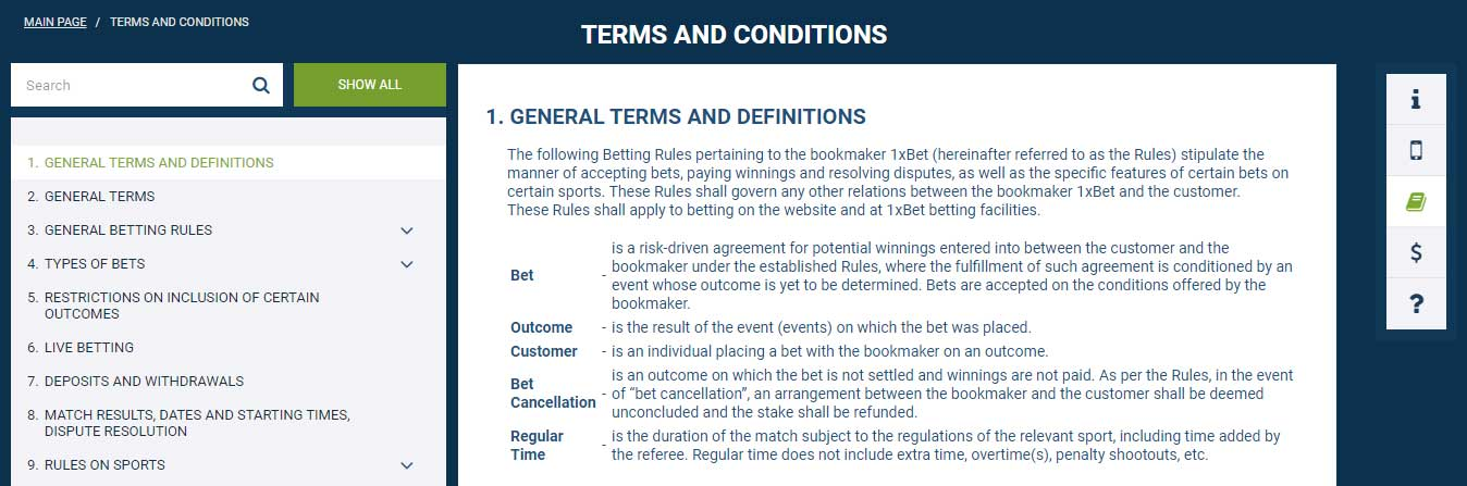 Familiarize yourself in advance with the conditions of the bookmaker
